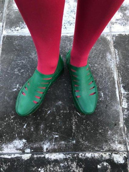 Sapato de Látex Verde