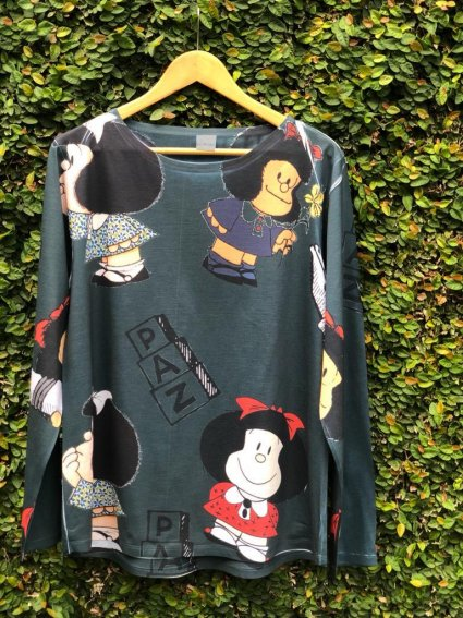 Blusa Manga Longa Mafalda