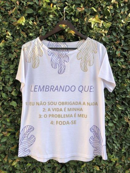 T-SHIRT PROFANA - LEMBRANDO QUE
