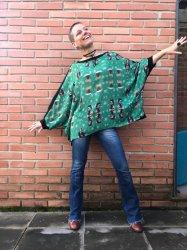 Imagem - Blusa Ampla Frida Verde cód: 302