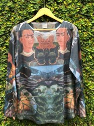 Imagem - Blusa Frida Kahlo