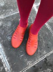 Imagem - Sapato de Látex Laranja cód: 250