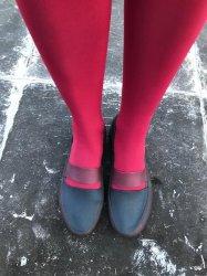 Imagem - Sapato de Látex Preto e Bordô