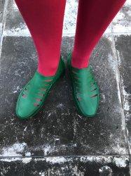 Imagem - Sapato de Látex Verde