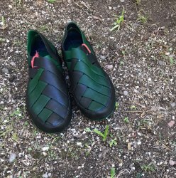 Imagem - Sapato de Látex Verde e Azul