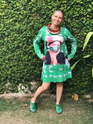 Imagem - Vestido Frida Kahlo com Máscara Verde cód: 270