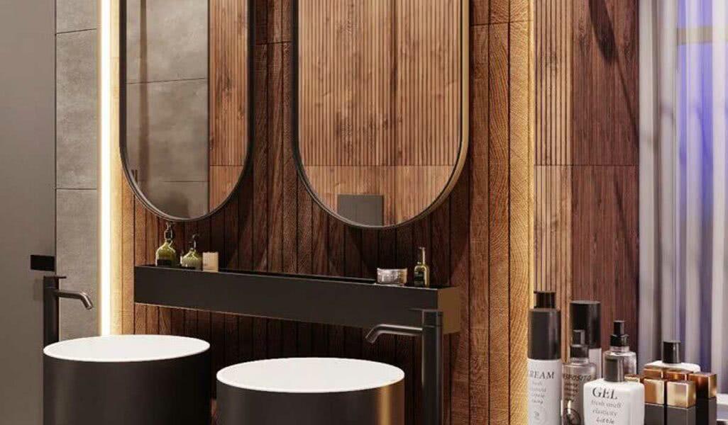 Imagem - Banheiro amadeirado: vantagens, desvantagens, dicas e fotos para se inspirar