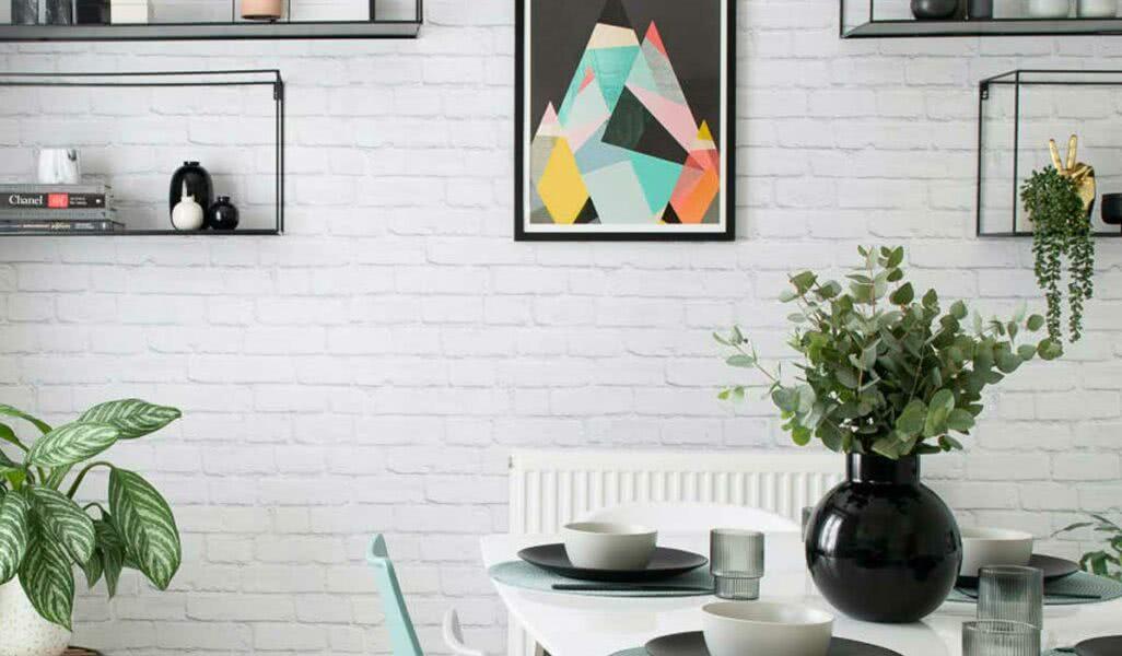 Imagem - Tijolinho branco: vantagens, tipos, dicas e fotos para se inspirar