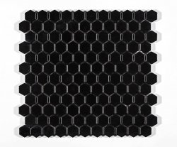 Imagem - Pastilha Hexagonal Preto - ATLAS cód: 7890520000000-M4337