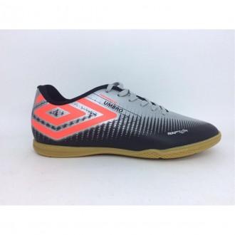 Imagem - Tênis Futsal U01fb005023 Raptor Umbro Black/silver/fiery Cor