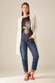 Imagem - Calça Jeans Boyfriend com Recortes Sacada