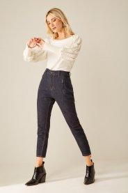 Imagem - Calça Jeans Fit com Detalhe Zíper Sacada