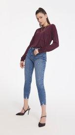 Imagem - Calça Jeans Skinny Blue Cós Alto Iodice