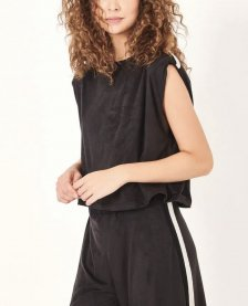 Imagem - T-shirt em Suede com Tricot Dress To