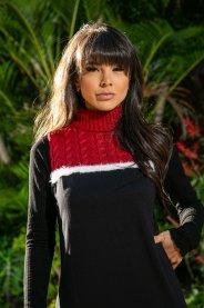 Imagem - Vestido em Malha com Gola em Tricot Sacada