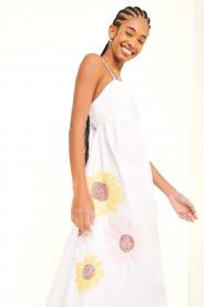 Imagem - Vestido Longuete Bordado Girassol Dress To