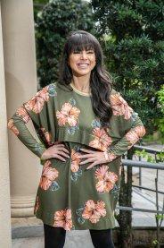 Imagem - Vestido Moletom Leve Estampa Floral Dress To