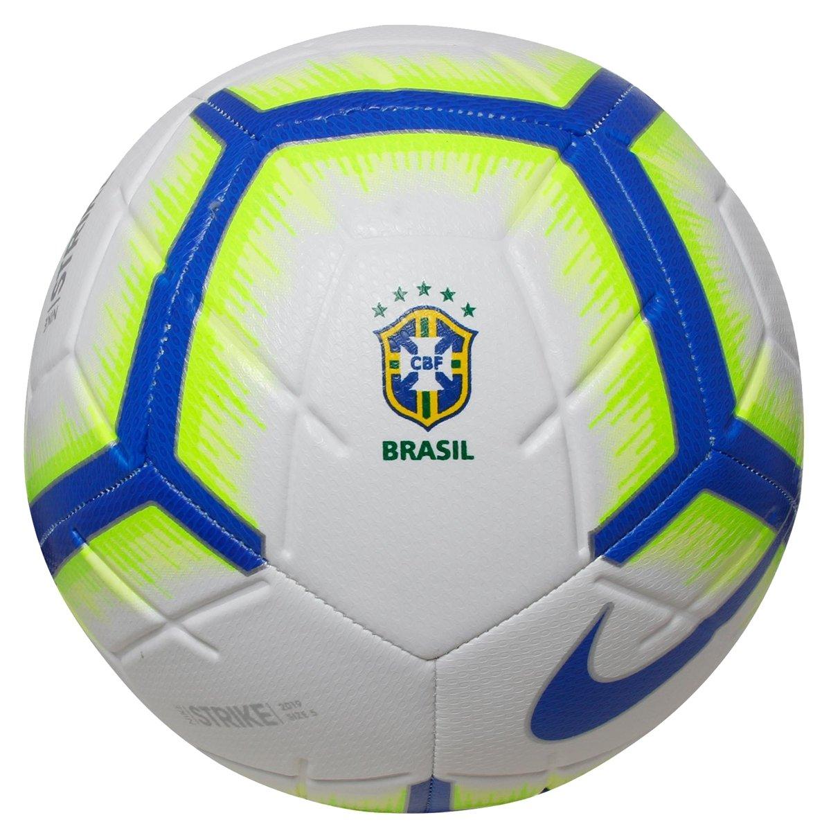 2842f4243f BOLA CAMPO NIKE BRASIL STRIKE - Branco royal Neon - Compre Agora ...