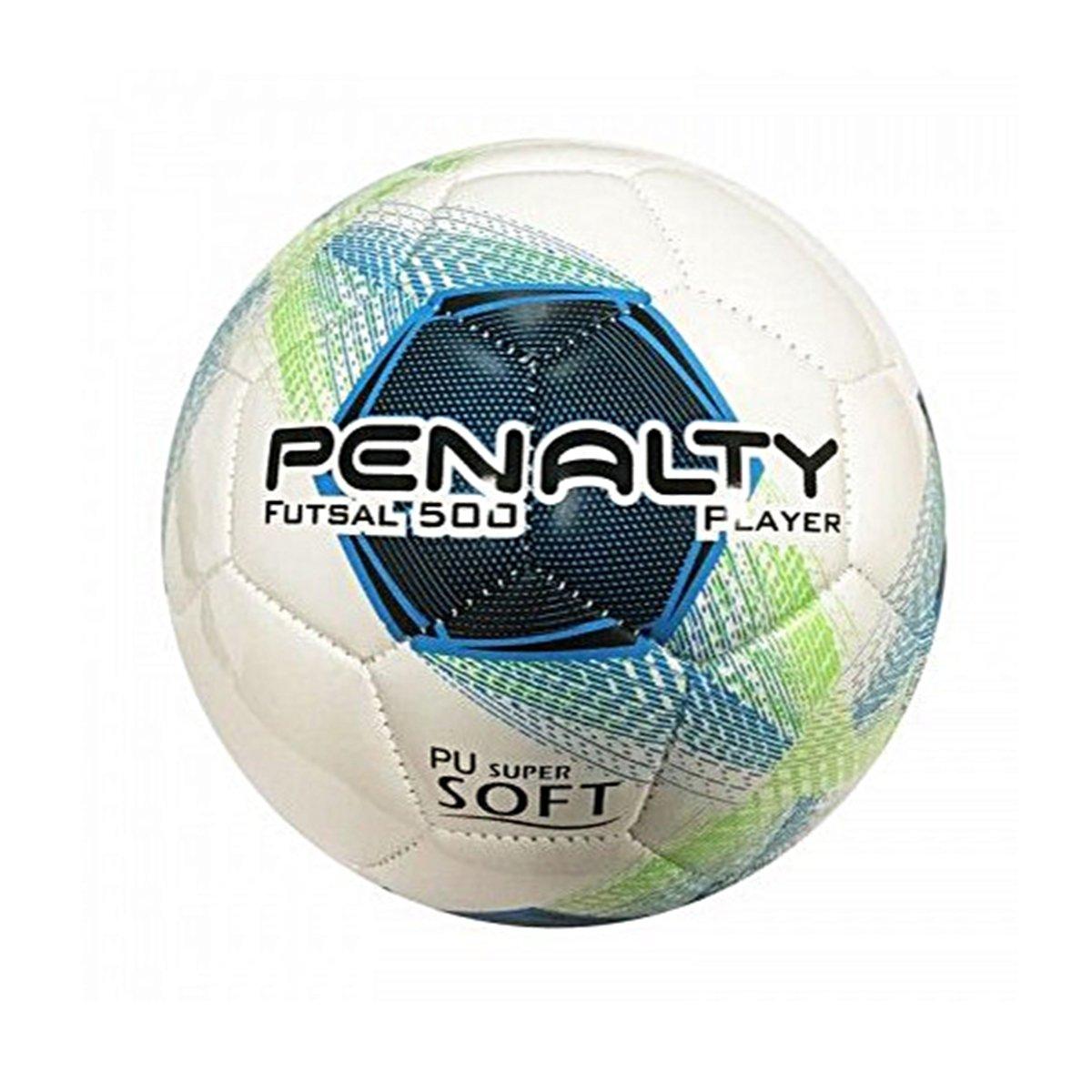 3af375e68 BOLA FUTSAL PENALTY PLAYER 8 - Branco Azul Verde - Compre Agora ...