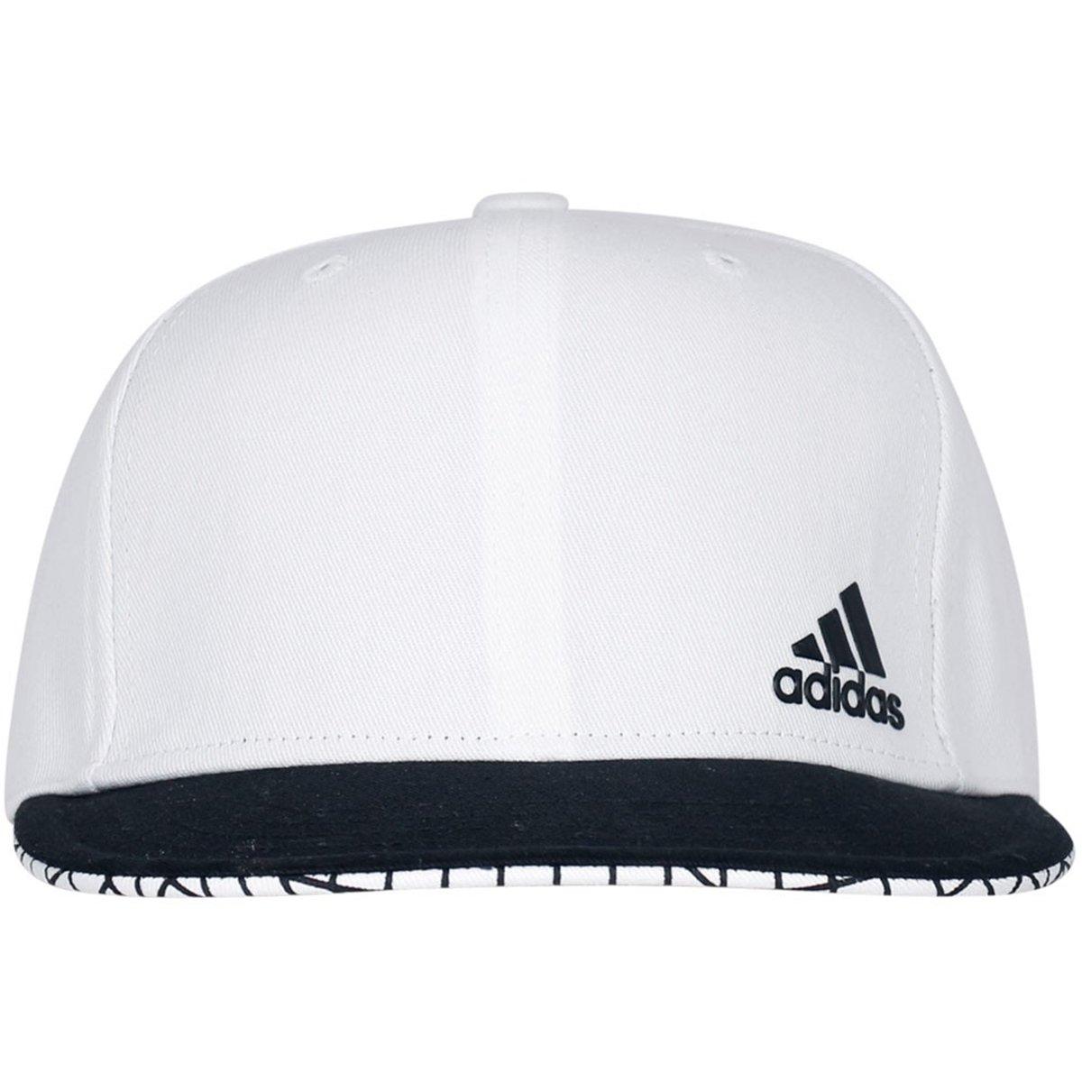3fa270ef4 BONÉ ADIDAS FLAT CAP - Branco/Preto - Compre Agora | Radan Esportes