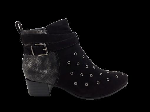 Bota Feminina Ramarim Ankle Boot Comfort Preta