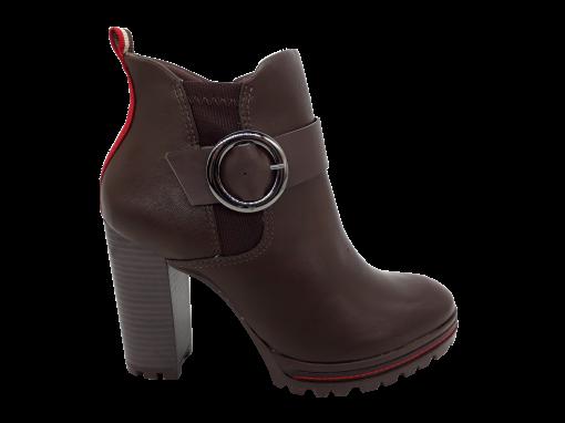 Bota Feminina Ramarim 1853101 Ankle Boot Salto Alto Brown