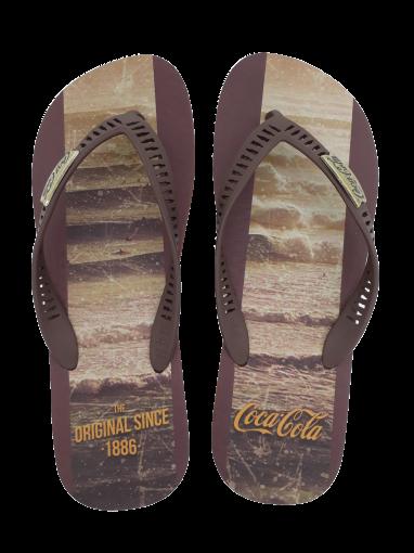 Chinelo Masculino Coca Cola CC2675 Swell Marrom