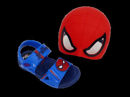 Sandália Infantil Grendene Menino Spider Man com Óculos de Super-Herói