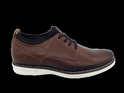 Sapato Casual Masculino Pegada em Couro Brown 124961