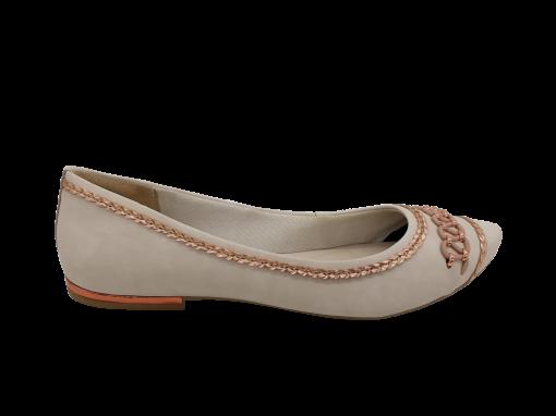 Sapatilha Feminina Dakota B9344 Bico Fino com Tressê Branca