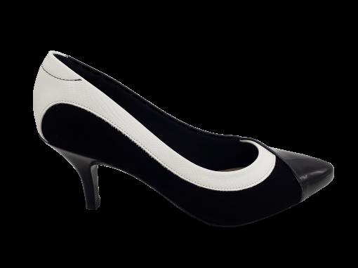 Sapato Feminino Modare Salto Médio Ultra Conforto Preto e Branco