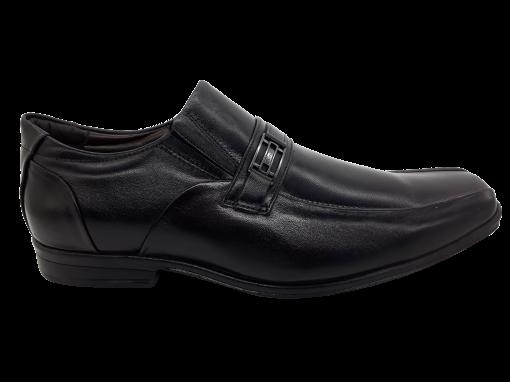 Sapato Social Masculino Calvest 3320C604 em Couro Preto