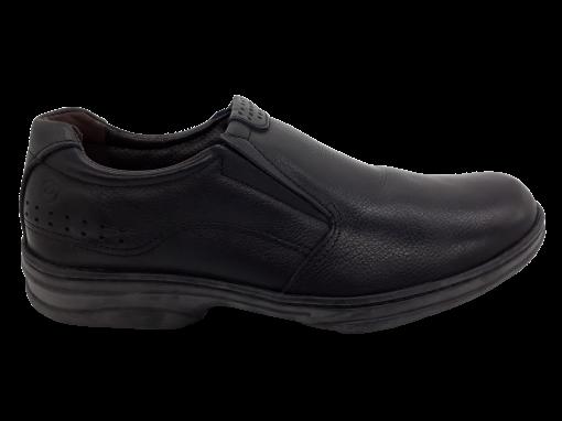 Sapato Masculino Pegada em Couro Preto 24002-01
