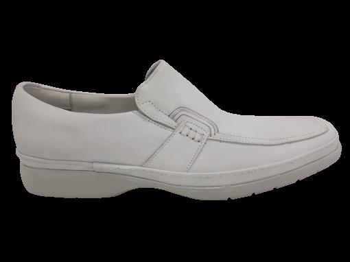 Sapato Casual Masculino Pipper 511016 em Couro Branco