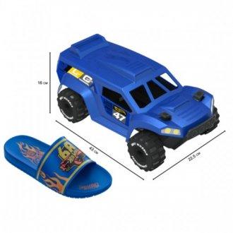 Imagem - Chinelo Infantil Grendene Menino Hot Weels Carro Brinquedo 22558 - 275899