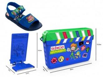 Imagem - Sandália Infantil Grandene Kids Menino Gato Galactico Kit Youtuber 22465 - 275439
