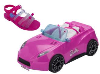 Imagem - Sandália Infantil Grendene Barbie Pink Car REF 22166 - 273792