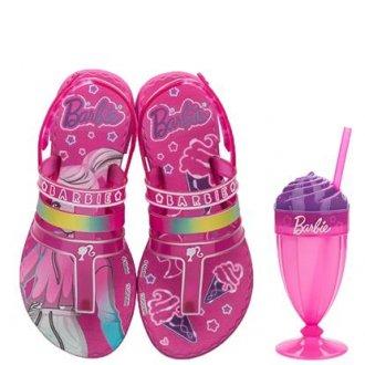Imagem - Sandália Infantil Grendene Kids Menina Barbie Milkshake 22460 - 276009