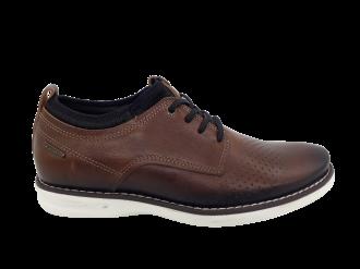 Imagem - Sapato Casual Masculino Pegada em Couro Brown 124961 - 263854