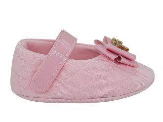 Imagem - Sapatilha Bebê Keto Baby Menina Com Laço e Velcro 001163  - 276874