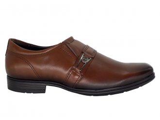 Imagem - Sapato Masculino Pegada de Couro com fivela 122315 Tecnologia Levitech - 265325