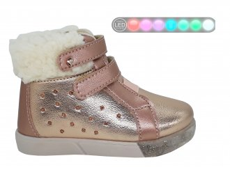Imagem - Tênis De Cano Infantil Pampili Baby Fun Menina Com Luz de Led e Pelos - 276370