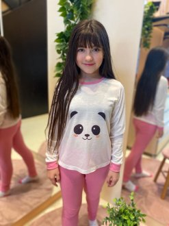 Imagem - Conjunto de Pijama Juvenil cód: 15225.ROSA/PANDAFACE