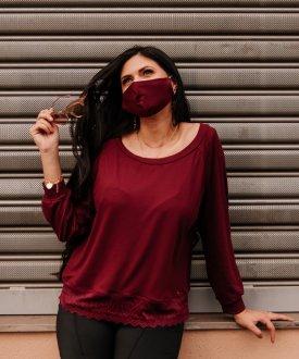 Imagem - Máscaras de Proteção Adulto cód: 14802.ROSAANTIGO