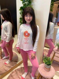 Imagem - Conjunto de Pijama Infantil cód: 15224.ROSA/DONUTWORRY