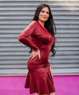 Imagem - Vestido Cirré com Barra em Babados cód: 14984.BORDOCIRRE