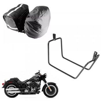 Alforge Nylon C/ Capa + Afastador Harley Davidson Fat Boy