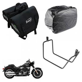 Alforge Universal C/ Capa + Afastador Harley Davidson FatBoy