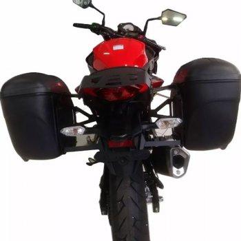 Bagageiro Traseiro e Suporte Bau Lateral Kawasaki Z300