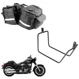 Alforge 19 Litros + Afastador Harley Davidson Fat Boy